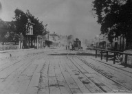 Historic photo of the area used as a part of a tabletop installation