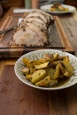 Green Peppercorn Crusted Pork Loin Roast