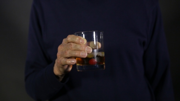 dad with drink